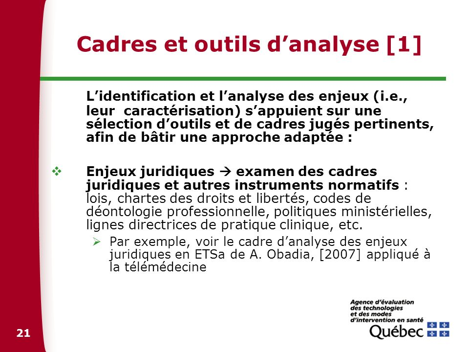 Cadres et outils d'analyse [1]